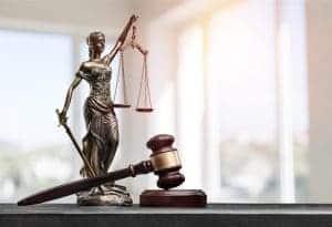 balance advocate antique and gavel